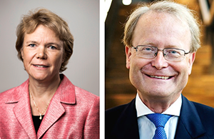Harriet Wallberg och Anders Hamsten - Foto: UKÄ och KI