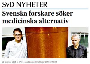 Martin Ingvar och Mats Lekander i SvD