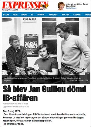 IB-affären, Guillou, Expressen