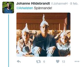 Johanne Hildebrandt tweet2016
