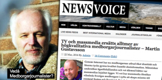 Börje Peratt replikerar Martin Gustavsson. Montage: NewsVoice