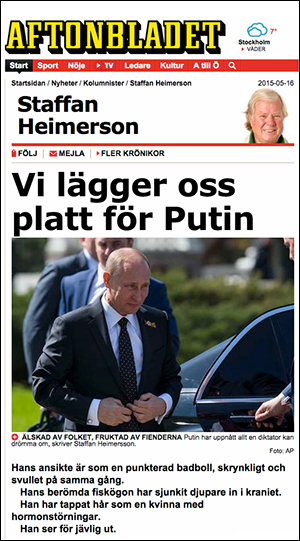 Staffan Heimerson om Putin, 2011