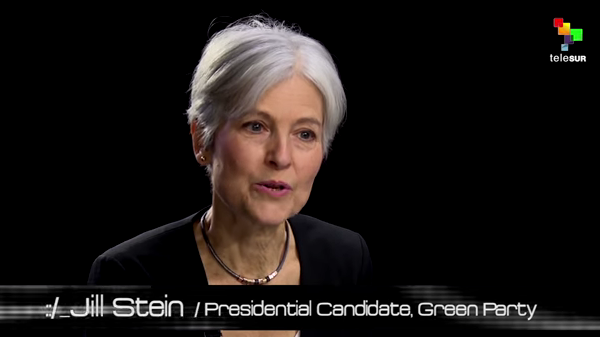 Dr Jill Stein Green Party intervjuad av Abby Martin