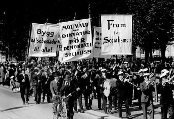 Demonstration på 1:a maj 1934