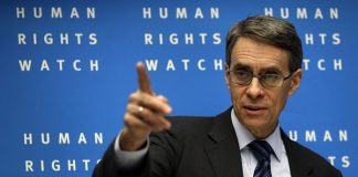 Human Rights Watch Executive director Ken Roth