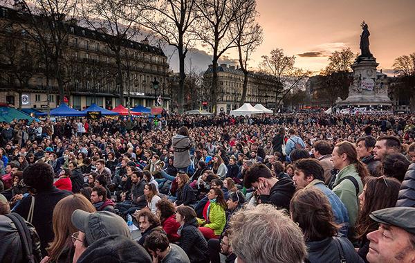 """Nuit Debout"",   Paris 2016 - Foto: Olivier Ortelpa,   Wikimedia Commons"
