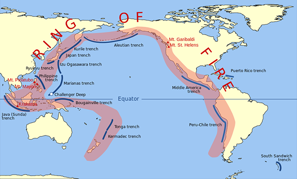 Pacific Ring of Fire - Wikimedia