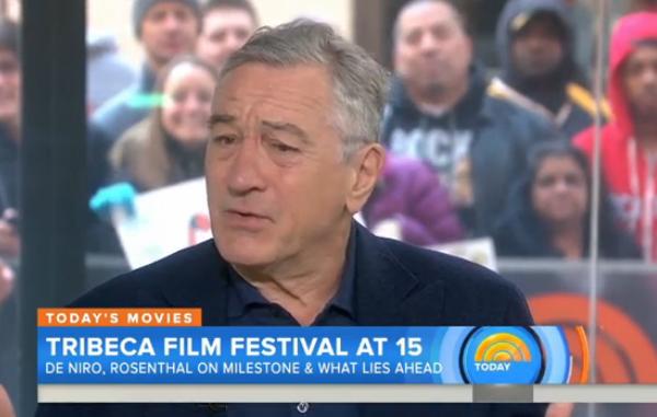 Robert De Niro, Vaxxed, Today.com