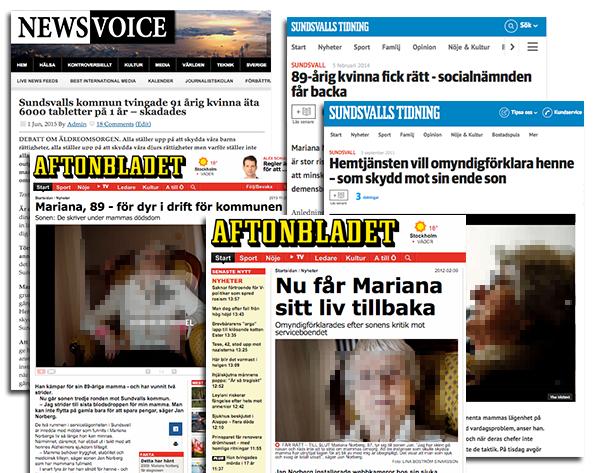 Mariana Norberg i media. Pressklipp från 2016