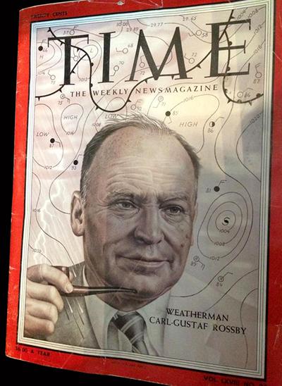 Times med Carl-Gustaf Rossby på förstasidan