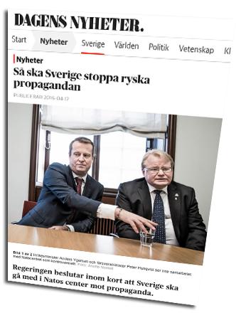 Anders Ygeman och försvarsminister Peter Hultqvist - Foto: Anette Nantell, DN.se