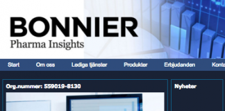 Bonnier Pharma Insights - Skärmdump