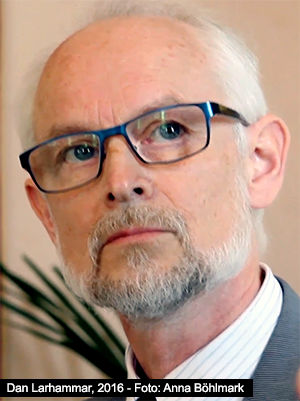 Dan Larhammar, juni 2016 - Foto: Anna Böhlmark