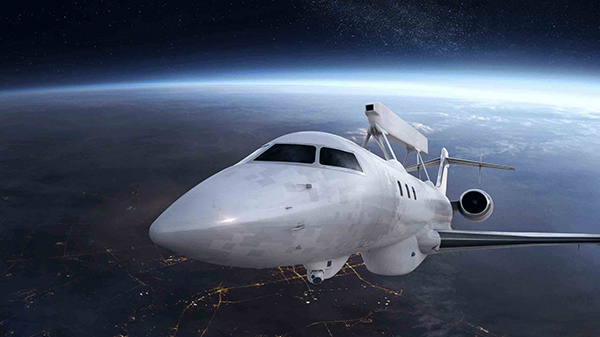 GlobalEye AEW&C monterat på en Bombardier - SAAB pressfoto