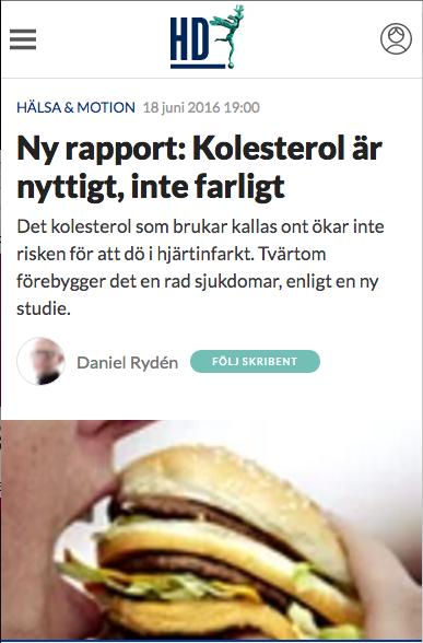 Skärmdump från HD.se, kolesterol