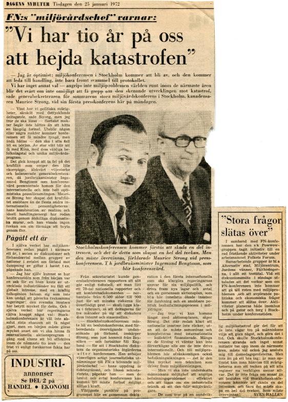Stockholmskonferensen - Dagens Nyheter, 25 jan 1972