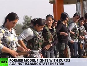 Kvinnliga kurdiska krigare mot IS - Foto: RT.com