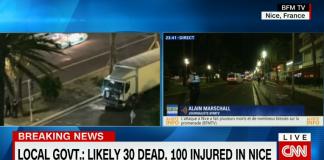 Nice attack, July 2016, Bastille Day - Bild: CNN skärmdump