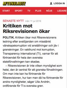 Riksrevisionen Aftonbladet