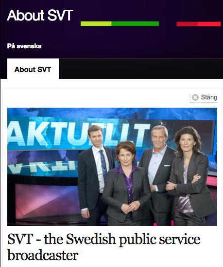 SVT Public Service - Skärmdump SVT.se