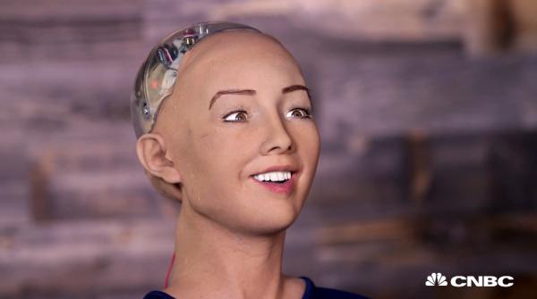 Sofia - Hanson Robotics - Foto: CNBC.com