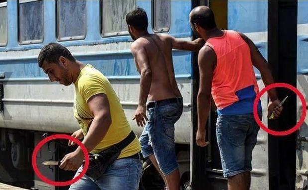 Criminal refugees (2015) - Photographer unknown - Article by Pamela Geller