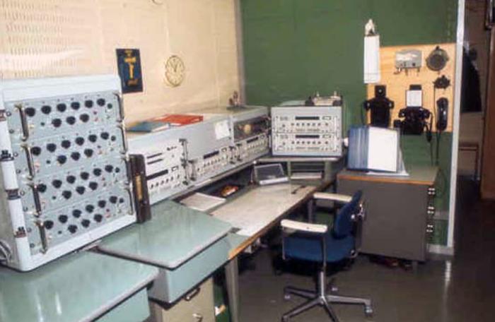 KV-expeditionsplats Hårsfjärden radio, ca 1970