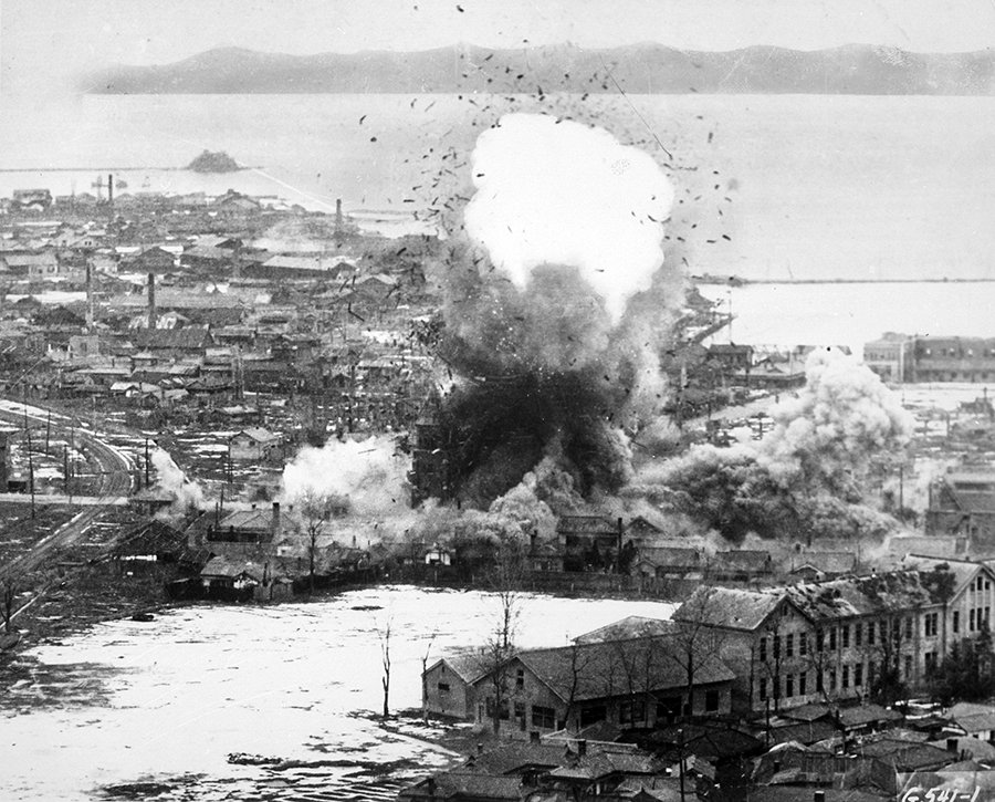 Korean War US B26 bombing in 1951 of Wonsan - Wikimedia Commons