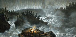 Målning: Harsprånget 1856, Carl Svante Hallbeck