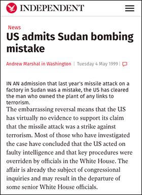 Sudan US bombings 1998