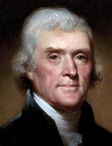 Bild: Official presidential portrait of Thomas Jefferson