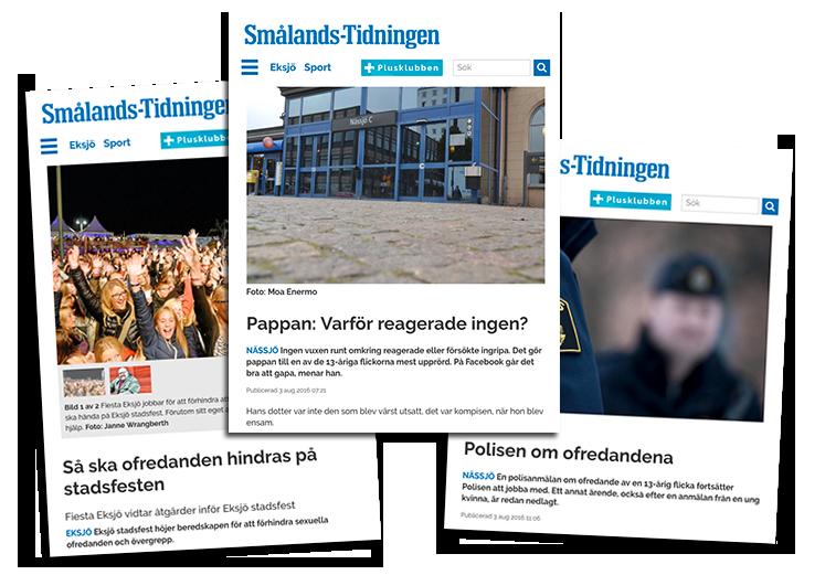 Smålands Tidningen om sexuella ofredanden festival 2016