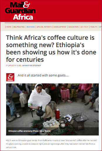 The Coffee trend started in Africa