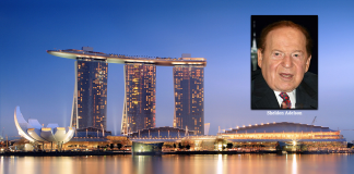 Marina Bay Sands i Singapore och casinoägare Sheldon Adelson
