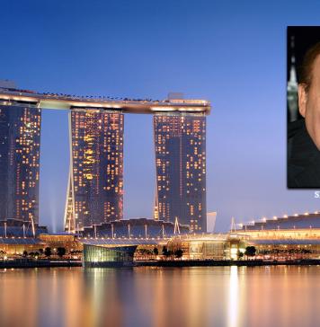 Marina Bay Sands i Singapore och casinoägare Sheldon Adelson