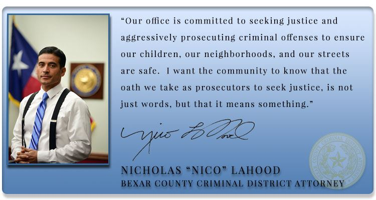 Nico LaHood, Bexar County
