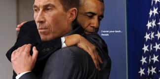 Obama kramar Micael Bydén - Retuscherat