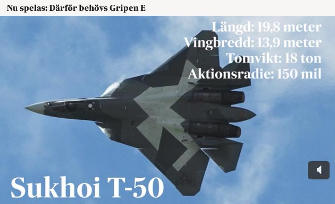 SvD-propaganda mot ryska Sukhoi T50