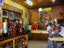 Tomoca Coffee Shop, Addis Ababa, Ethiopia - Photo: Mark Wiens, Migrationology.com