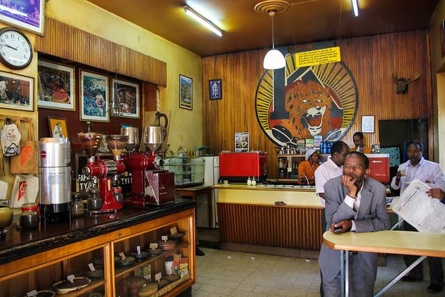 Tomoca Coffee Shop, Addis Ababa, Ethiopia - Photo: Mark Wiens, Migrationology.com