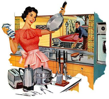 Sexistisk patriarkalisk reklam från 1950-talets USA