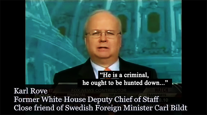 Carl Rove om Julian Assange