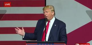 Donald Trump, tal i Florida 13 oktober 2016