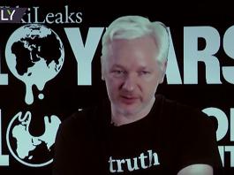 Julian Assange den 3 oktober 2016 - Foto Ruptly