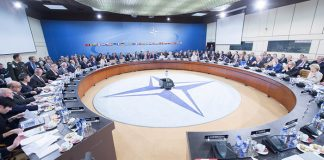 NATO Defence Ministers at NATO Headquarters