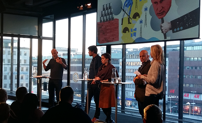 Paneldebatt om propaganda i Sverige, 5 okt 2016 i Kulturhuset - Foto: NewsVoice