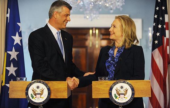Thaci och Hillary
