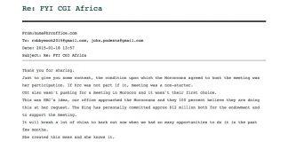 WikiLeaks, Podesta-mail till Clinton Foundation