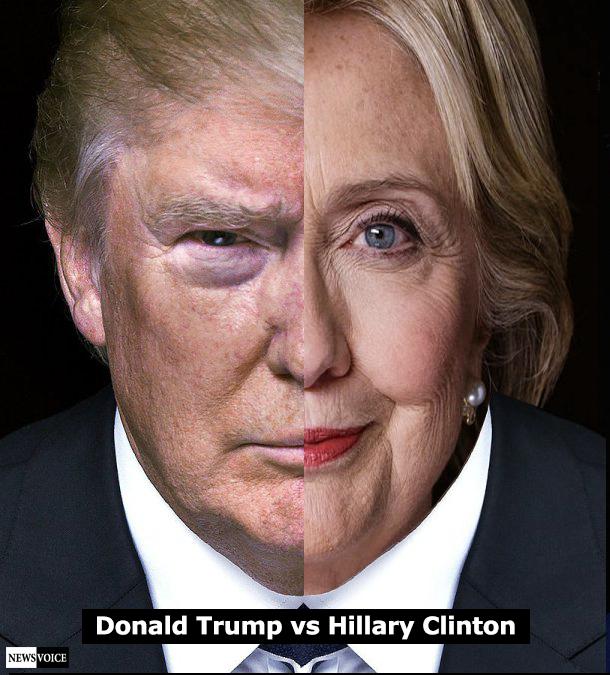 Donald Trump mot Hillary Clinton - USA-valet 2016