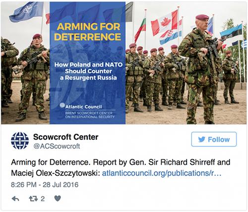 Scowcroft Center, Twitter